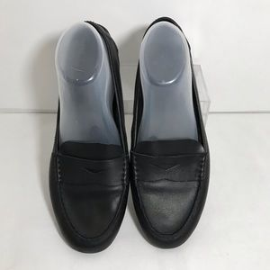 Born Malena Black Leather Driving Shoes Loafers 9